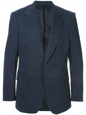 Строгий пиджак узкого кроя Gieves & Hawkes. Цвет: синий