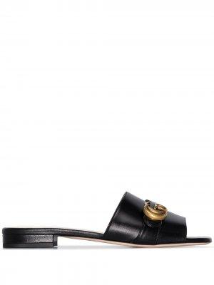 Сандалии GG Marmont Gucci. Цвет: черный