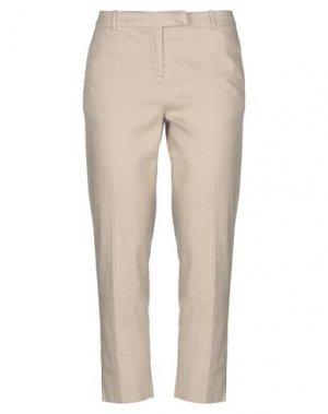 Повседневные брюки PAOLO PECORA. Цвет: песочный