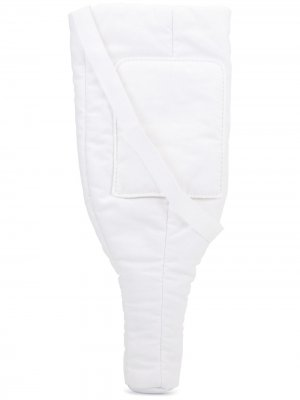 Уплотненная сумка Mm6 Maison Margiela. Цвет: белый