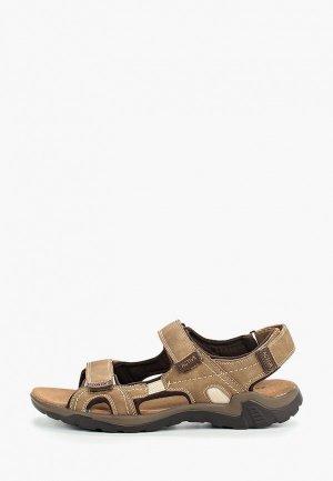Сандалии Zenden Active. Цвет: коричневый