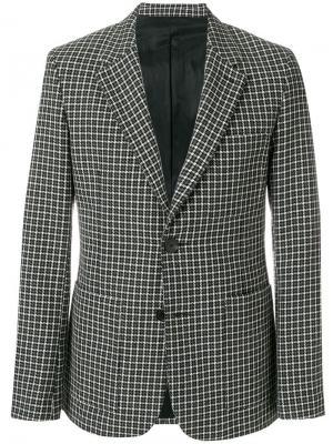 Пиджак на две пуговицы AMI Paris. Цвет: серый