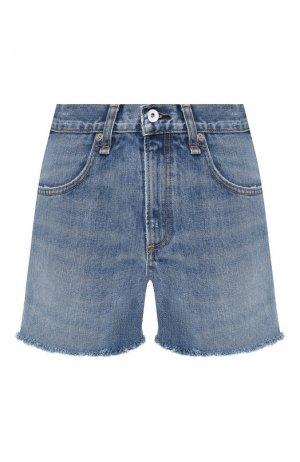 Джинсовые шорты Rag&Bone. Цвет: синий