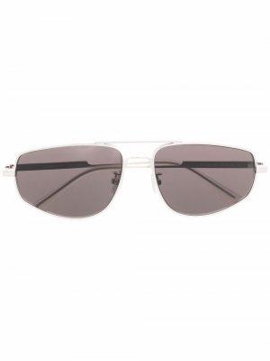 Солнцезащитные очки BV1125S Minimalist Bottega Veneta Eyewear. Цвет: серебристый