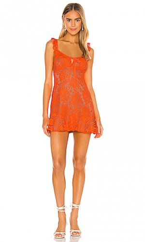 Платье sunbeams MAJORELLE. Цвет: оранжевый