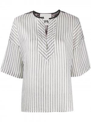 Рубашка в полоску 8pm. Цвет: белый