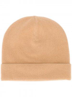Трикотажная шапка бини Joseph. Цвет: коричневый