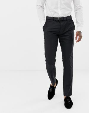 Черные узкие брюки с пайетками под смокинг Devils Advocate. Цвет: черный