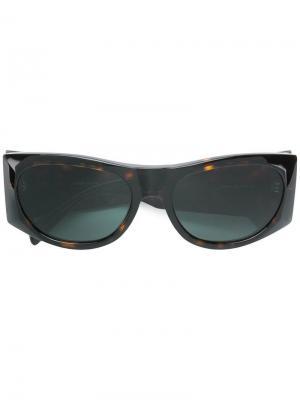 Oval shaped sunglasses Celine Eyewear. Цвет: коричневый