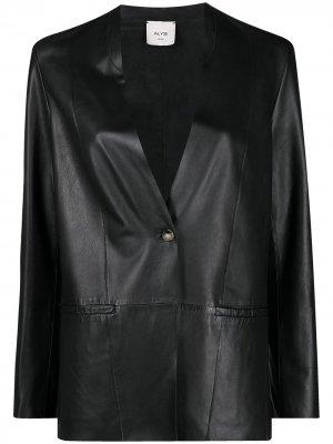 Однобортный блейзер Alysi. Цвет: черный