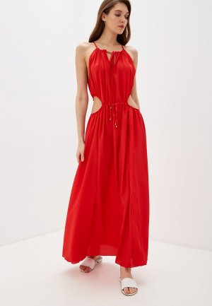 Платье пляжное Donatello Viorano. Цвет: красный