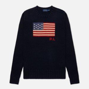 Женский свитер Cotton Flag Polo Ralph Lauren. Цвет: синий