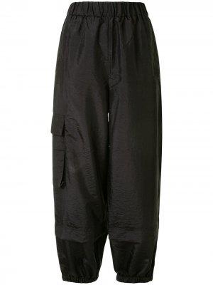 Зауженные брюки карго Tibi. Цвет: черный