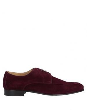 Обувь на шнурках CASTORI. Цвет: пурпурный