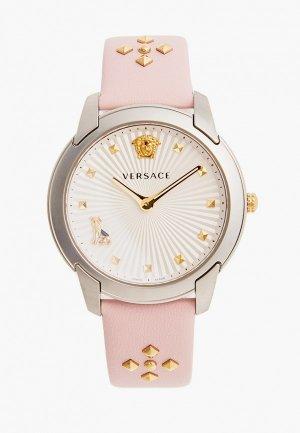 Часы Versace. Цвет: розовый