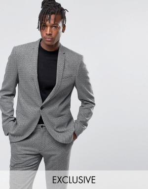 Пиджак из монохромной фактурной ткани -Черный Noak