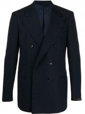 Двубортный пиджак Helmut MP Massimo Piombo. Цвет: синий