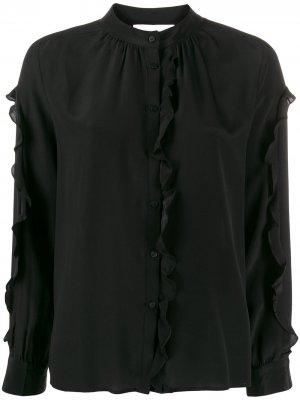 Блузка с оборками Ba&Sh. Цвет: черный