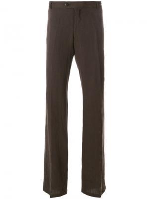 Классические брюки Armani Collezioni. Цвет: коричневый