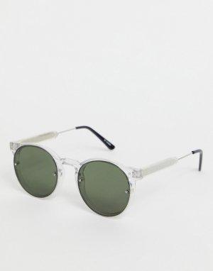 Мужские солнцезащитные очки в круглой прозрачной оправе Post Punk-Прозрачный Spitfire