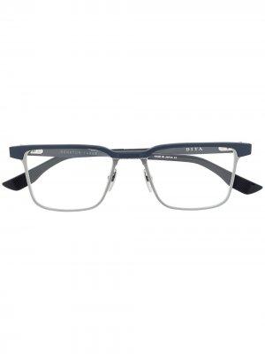 Очки в квадратной оправе Dita Eyewear. Цвет: серебристый