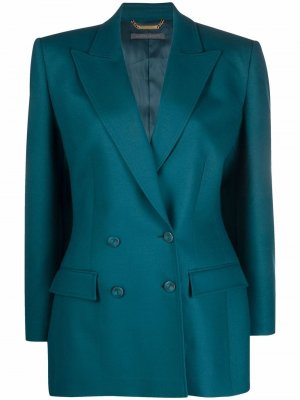 Double-breasted tailored blazer Alberta Ferretti. Цвет: зеленый
