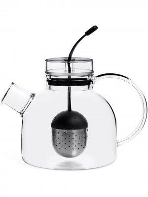 Маленький стеклянный чайник Kettle Menu. Цвет: черный