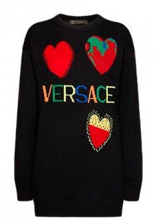 Пуловер VERSACE. Цвет: черный