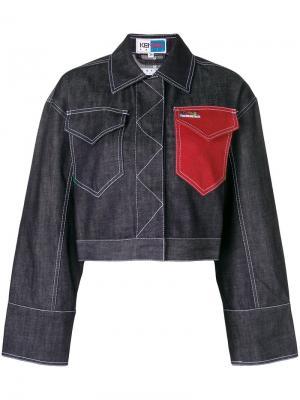 Джинсовая куртка с контрастным накладным карманом Kenzo. Цвет: синий
