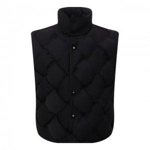 Пуховый жилет Bottega Veneta. Цвет: чёрный