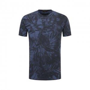 Хлопковая футболка Zegna Couture. Цвет: синий