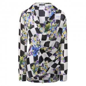 Блузка из вискозы Off-White. Цвет: разноцветный
