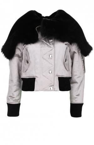 Куртка-бомбер Alexander Wang. Цвет: серебряный