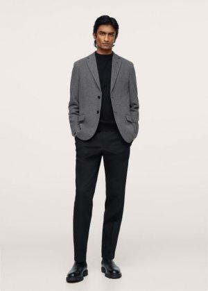 Трикотажный пиджак из хлопка - Verner Mango. Цвет: серый