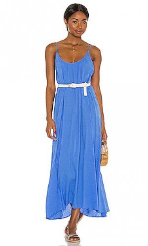 Макси платье tulum 9 Seed. Цвет: синий