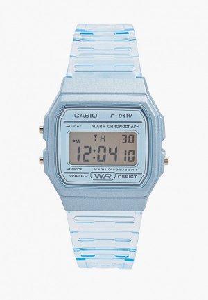 Часы Casio F-91WS-2EF, Collection. Цвет: голубой
