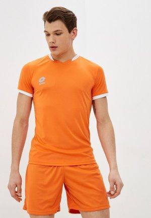 Футболка спортивная Lotto PRIME JERSEY SS. Цвет: оранжевый