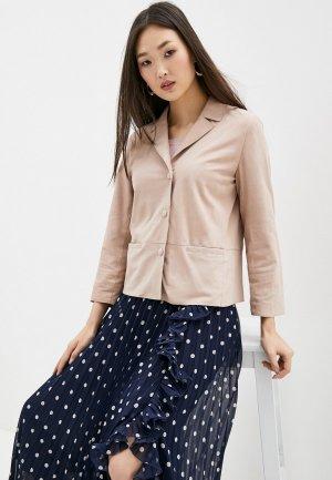 Куртка кожаная Seventy. Цвет: розовый