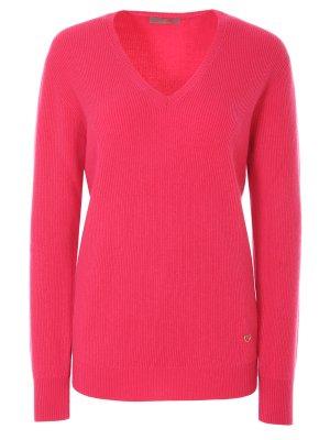 Пуловер кашемировый Cruciani. Цвет: розовый