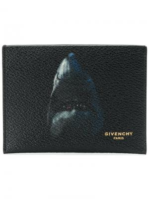 Визитница Shark Givenchy. Цвет: чёрный