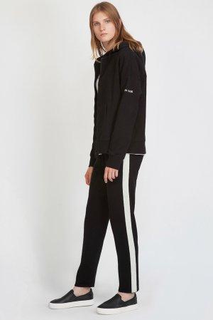 Толстовка на молнии с накладными карманами VASSA&Co. Цвет: черный