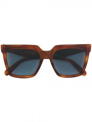 Солнцезащитные очки в квадратной оправе Celine Eyewear. Цвет: коричневый