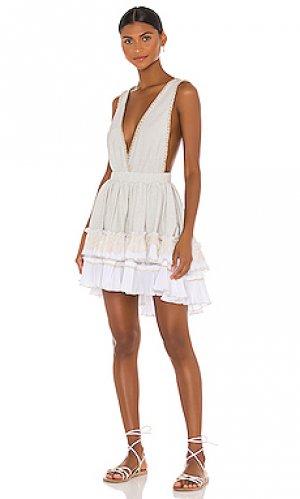 Мини платье embroidered CHIO. Цвет: white,grey