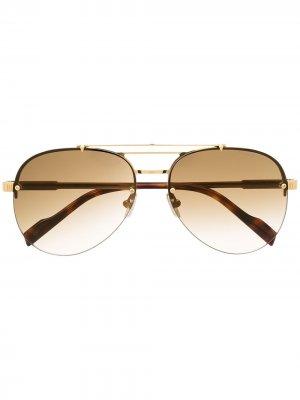 Солнцезащитные очки-авиаторы 1372 Cutler & Gross. Цвет: золотистый