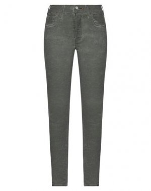 Джинсовые брюки HTC. Цвет: темно-зеленый
