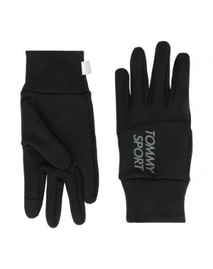 Перчатки TOMMY SPORT. Цвет: черный
