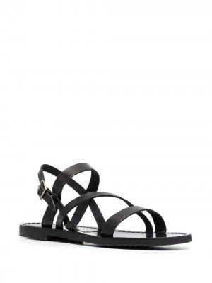 Сандалии с открытым носком P.A.R.O.S.H.. Цвет: черный
