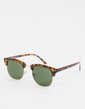 Солнцезащитные очки в стиле ретро -Коричневый Selected Homme