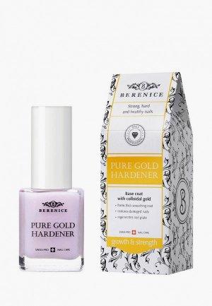 Средство для ногтей и кутикулы Berenice укрепляющее с золотом / Pure gold hardener, 15 г. Цвет: белый