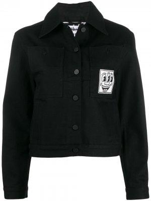 Джинсовая куртка Celeste Etudes. Цвет: черный